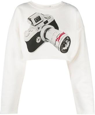 Fiorucci Camera-print cropped top
