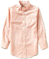 Class Club Gold Label Big Boys 8-20 Long-Sleeve Textured Woven Dress Shirt