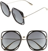 Christian Dior Directions 56mm Square Sunglasses