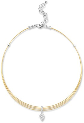 Alor 18K Gold Stainless Steel 0.11 TCW Diamond Pendant Necklace