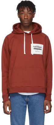 Second/Layer Red Oversized EBM Hoodie