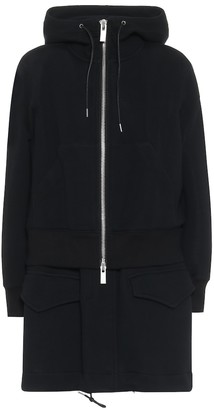 Sacai Cotton-blend jersey jacket