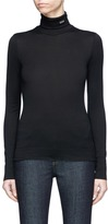 Calvin Klein '205' embroidered turtleneck long sleeve T-shirt