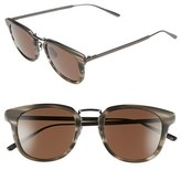 Bottega Veneta Women's 49Mm Retro Sunglasses - Ruthenium/ Ruthenium/ Brown