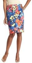 LOFT Petite Floral Variety Pencil Skirt