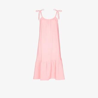 HONORINE Pink Lilou Flared Midi Dress