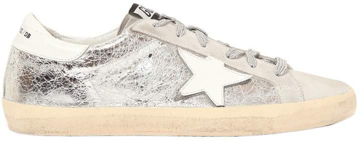 Golden Goose 20mm Super Star Crackle Leather Sneakers