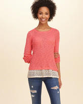 Hollister Lace Hem Pullover Sweater
