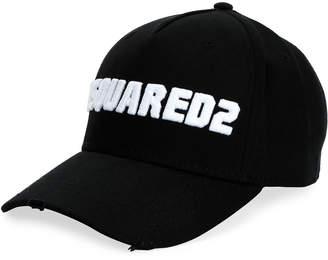 DSQUARED2 Men's Logo-Embroidered Baseball Cap, White/Black