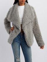 Charlotte Russe Fuzzy Faux Fur Jacket