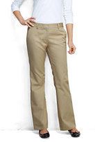 Lands' End Women's Plus Size Modern Plain Chino Trousers-True Navy