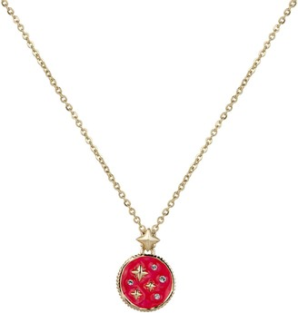All We Are Vintage Pendant - Hot Pink