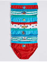 Marks and Spencer 7 Pack Pure Cotton Disney Briefs (18 Months - 8 Years)