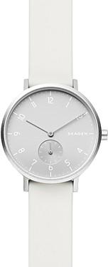 Skagen Aaren Kulr White Silicone Strap Watch, 36mm