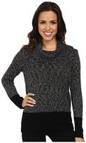 Calvin Klein Marled Blocked Cowl Sweater