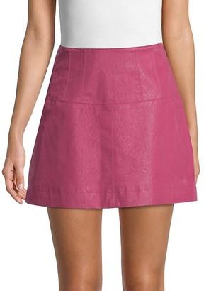 Free People Textured Mini Skirt