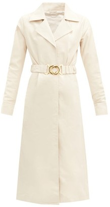 Dodo Bar Or Samara Belted Leather Shirt Dress - Cream