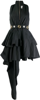Fausto Puglisi belted asymmetric dress