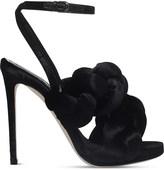 Marco De Vincenzo Braided velvet high heeled-sandals