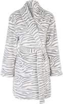 Jane Norman Mono Zebra Print Dressing Gown