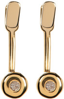 Kenneth Cole New York 14K Gold Plated Diamond Detail Earrings - 0.06 ctw