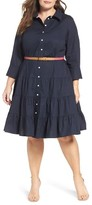 Eliza J Plus Size Women's Tiered Shirtdress
