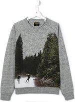 Finger In The Nose skateboarding print sweatshirt
