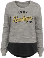 NCAA Juniors' Iowa Hawkeyes Mock-Layer Tee