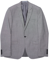 Ben Sherman Tailoring Slim Fit Brushed Puppytooth Suit Jacket, Grey