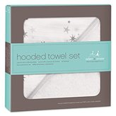 Aden Anais aden + anais Hooded Towel & Washcloth Set, Twinkle - Pack of 6