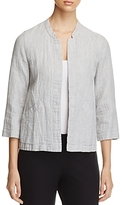 Eileen Fisher Organic Stretch Cotton Mandarin Collar Jacket