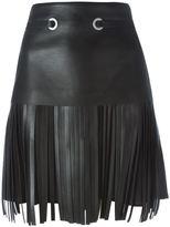 Neil Barrett fringed midi skirt