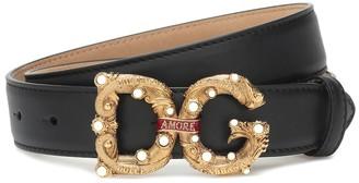 Dolce & Gabbana Amore logo leather belt