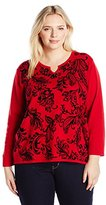 Alfred Dunner Women's Best Selling Printed Sweater