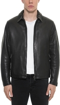 Forzieri Black Padded Leather Men's Zippered Jacket