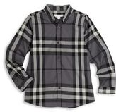 Burberry Little Boy's & Boy's Mini Fred Check Cotton Flannel Shirt