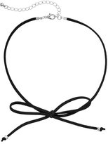 Apt. 9 Black Front Tie Faux Suede Choker Necklace