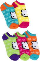 Hello Kitty 5-pk. Hearts No-Show Socks - Girls