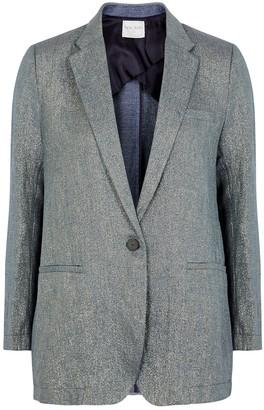 Forte Forte Blue metallic linen-blend twill blazer