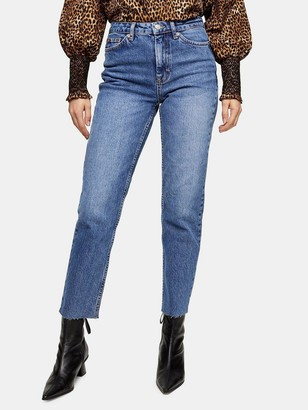 Topshop Straight Jeans - Blue