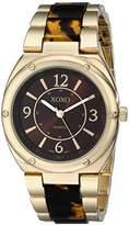 XOXO Women's XO5639 Gold and Tortoise Bracelet Watch