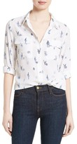 Equipment Women's Slim Signature Cactus Print Silk Shirt