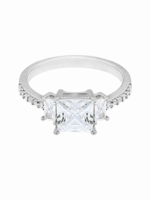 The Love Silver Collection STERLING SILVER PRINCESS CUT CUBIC ZIRCONIA RING