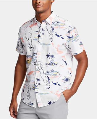 Nautica Men Tropical Graphic Linen Shirt