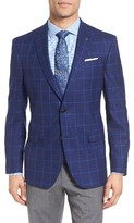 Ted Baker Men's Trim Fit Windowpane Wool Sport Coat