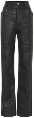Rick Owens lacquered straight jeans