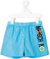 Moschino Kids logo print swim shorts