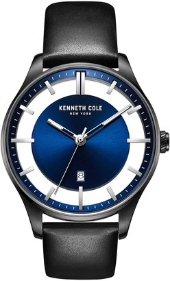 Kenneth Cole New York Men's Blue Dial Leather Watch