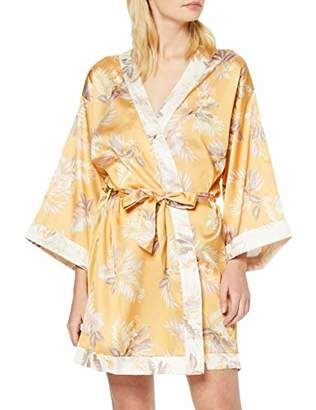 New Look Women's Alice Tropical Satin Robe (6191666) Kimono,(Manufacturer Size:52)