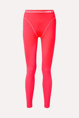 Adam Selman Neon Stretch Leggings - Bright pink